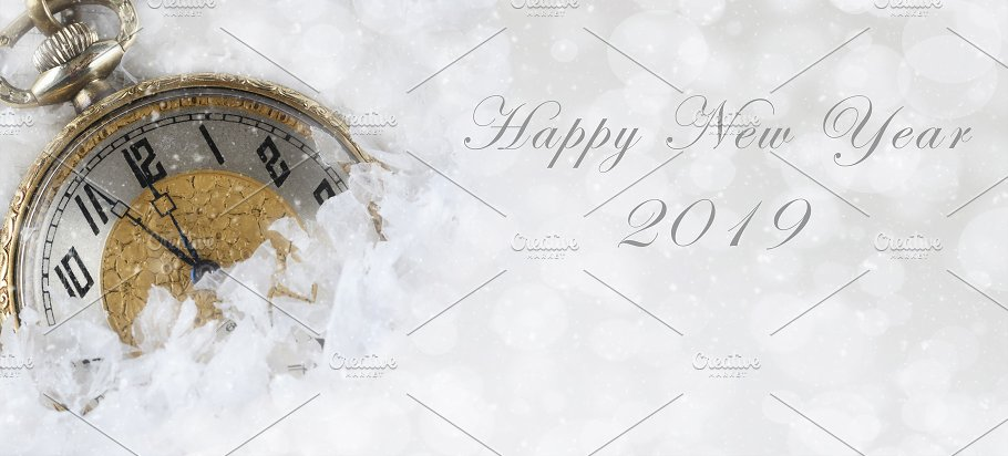happy new year banner size image wit holidays