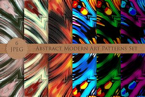 Abstract Modern Art Patterns Set