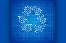 Blueprint Recycle Symbol