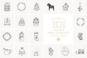PNG 101 Festive Hand Drawn Elements