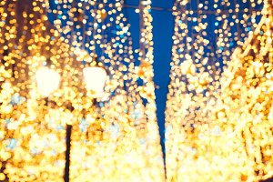 Bright Christmas Street Illumination