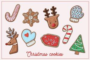Let it snow! Christmas cookie set.