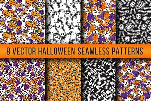 Stylish Halloween Seamless Patterns