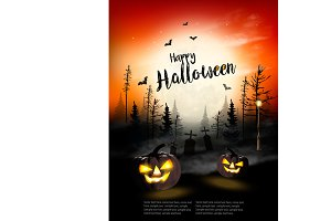 Holiday Halloween Spooky background