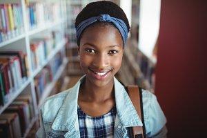 Portrait of schoolgirl smiling