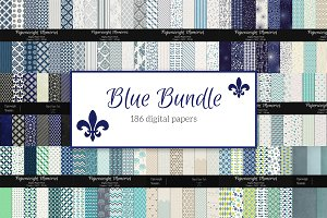 Blue Bundle - Blue Digital Papers