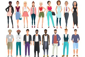 Stylish men and women models.
