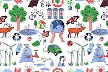 Colored Ecology and recycle pattern