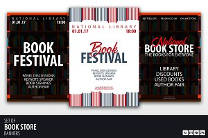 Book Store and Festival banners