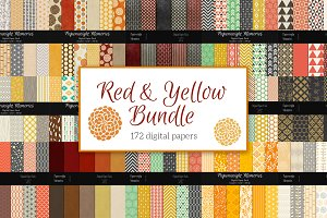 Yellow & Red Paper Bundle