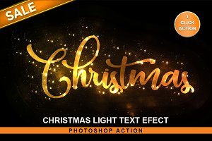Christmas Text Effect PS Action