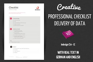 Checklist - Delivery creative data