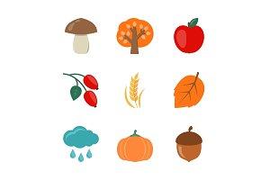 Autumn flat icons