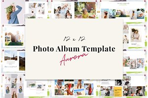 12x12 Photo Album Template / Aurora