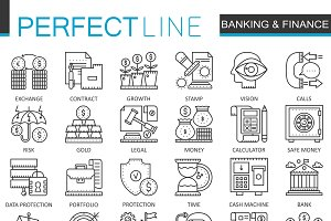 Banking finance concept icons