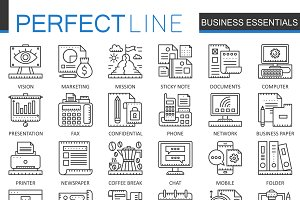 Business essential concept icons