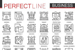 modern business concept icons