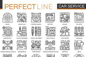 Car repair service concept icons