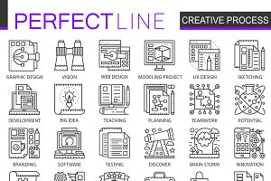 Creative process concept icons