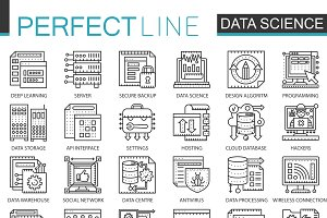 Data science tech concept icons