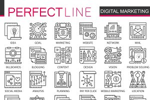 Digital Marketing concept icons