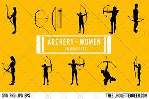 Woman Archery silhouette