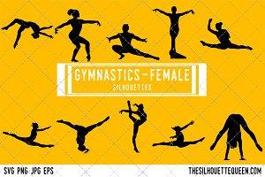 Woman Gymnast silhouette