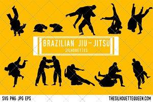 Brazilian jiu-jitsu silhouette