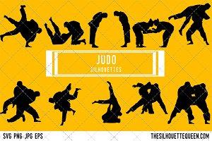 Judo silhouette, Judo clipart