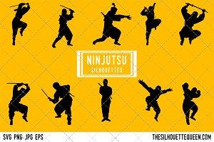 Ninjutsu silhouette, Ninja warrior