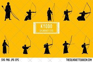 Kyudo Archery silhouette, Archer