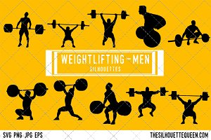 Man Weightlifting silhouette
