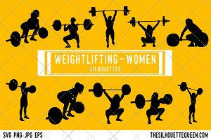 Woman Weightlifting silhouette