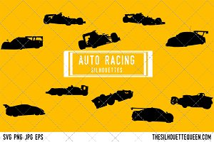 Auto racing silhouette,  Auto racer
