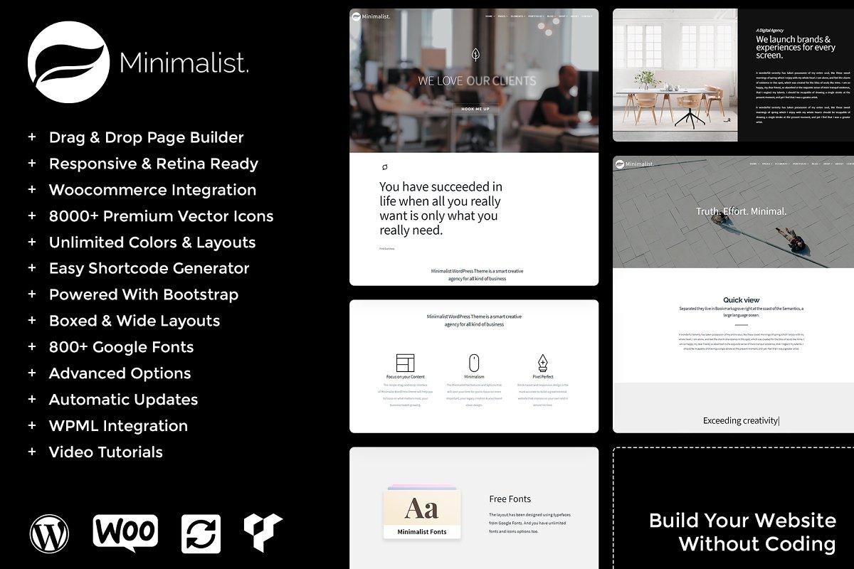 Minimalist WordPress Theme ~ WordPress Minimal Themes ~ Creative Market