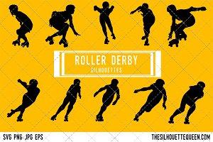 Roller derby girl silhouette