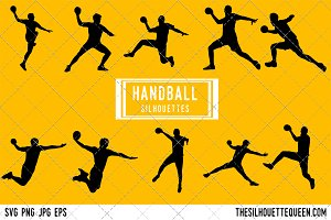 Handball silhouette, Handball Player