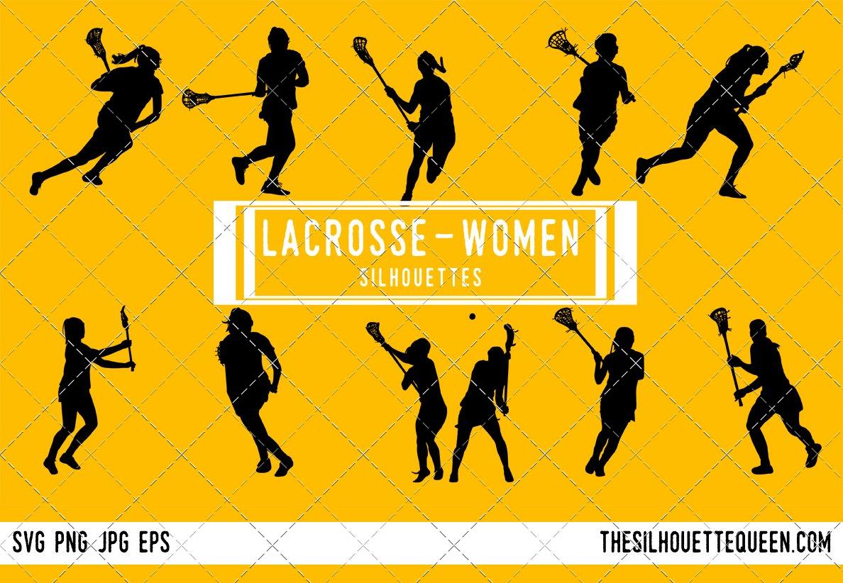 Female Women s Lacrosse silhouette ~ Graphic Objects ~ Creative Market 3142065f14