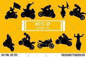 MotoGP Bike silhouette, MotoGP Biker