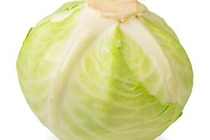 Head of ripe cabbage close - up