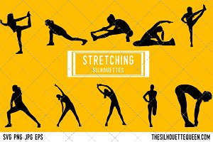 Stretching silhouette Vector