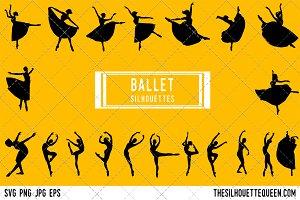 Ballerina dancer silhouette