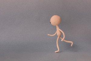 A man runs