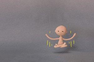 A man levitates in Nirvana