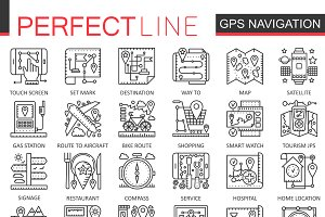 Navigation GPS location concept icon
