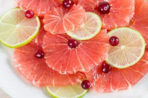 Citrus slices - grapefruit and lime