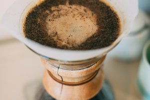 Coffee Grounds and Pour-Over Coffee