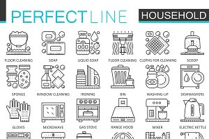 Household appliances concept icons