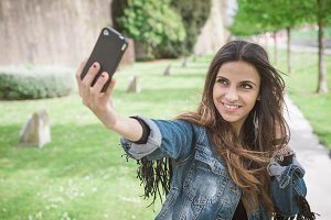 woman taking a selfie