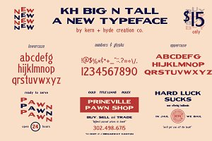 KH BIG N TALL TYPEFACE